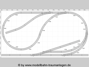 HO scale track plan